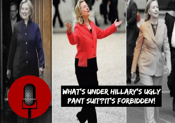SucksRadio: :Blue As It Gets|Hilary's Pantsuit Uncovered in Area 51
